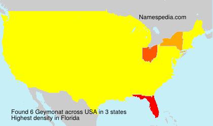 Familiennamen Geymonat - USA