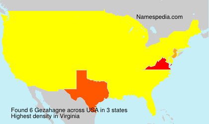 Surname Gezahagne in USA