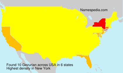 Surname Gezurian in USA