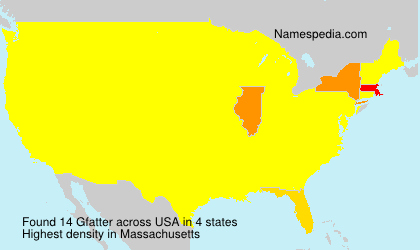 Surname Gfatter in USA