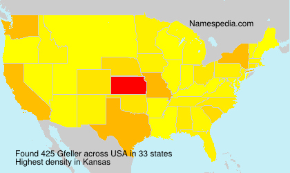 Surname Gfeller in USA
