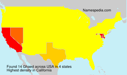 Surname Ghaed in USA