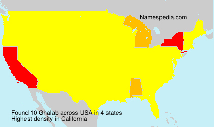 Surname Ghalab in USA