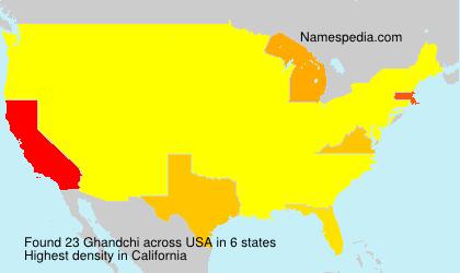 Familiennamen Ghandchi - USA