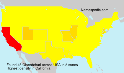 Surname Ghandehari in USA