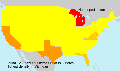 Surname Ghazzaoui in USA