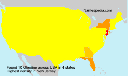 Surname Ghedine in USA