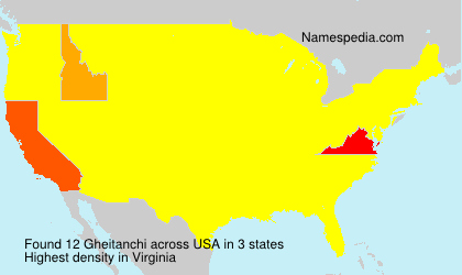 Surname Gheitanchi in USA