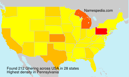 Surname Ghering in USA