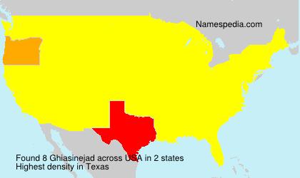 Surname Ghiasinejad in USA