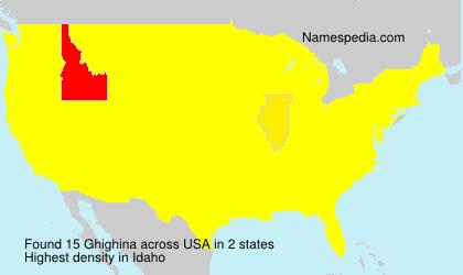 Familiennamen Ghighina - USA