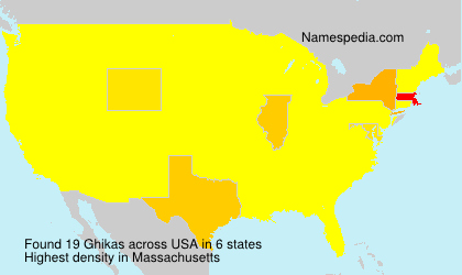 Surname Ghikas in USA