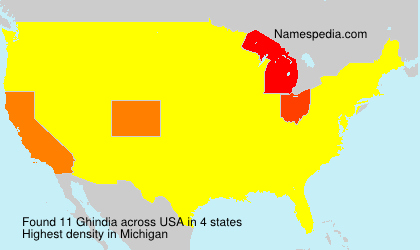 Surname Ghindia in USA