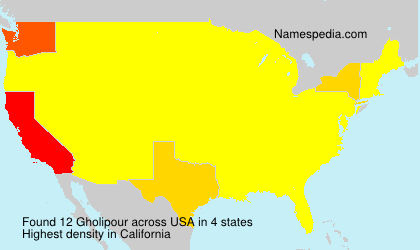 Surname Gholipour in USA