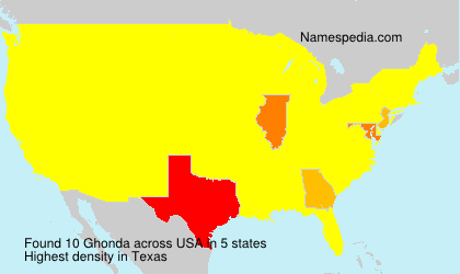 Familiennamen Ghonda - USA
