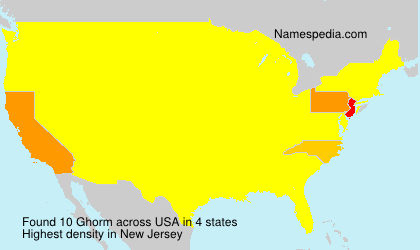 Surname Ghorm in USA