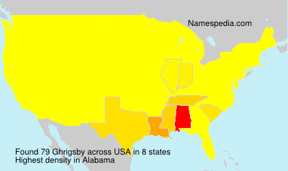 Surname Ghrigsby in USA