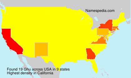 Surname Ghu in USA