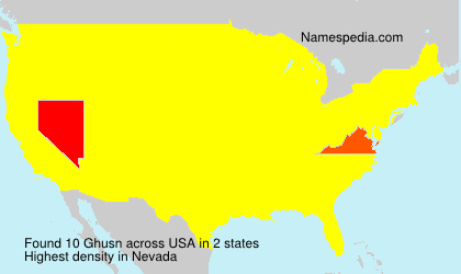 Surname Ghusn in USA