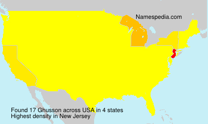 Surname Ghusson in USA