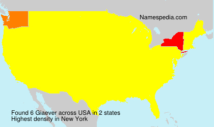 Surname Giaever in USA