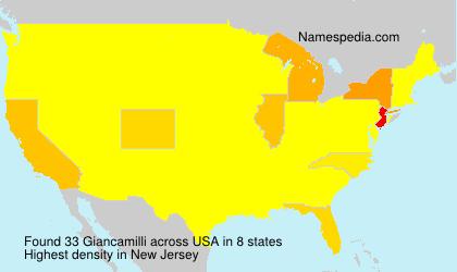 Surname Giancamilli in USA