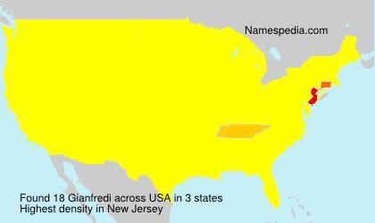 Surname Gianfredi in USA