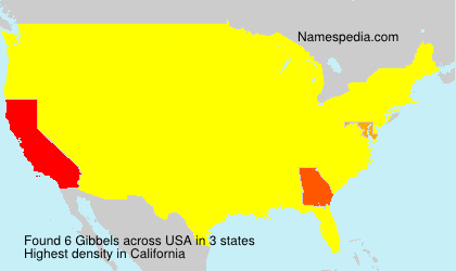 Surname Gibbels in USA