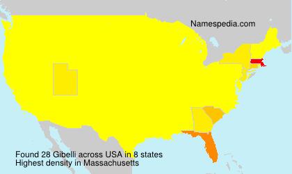 Surname Gibelli in USA