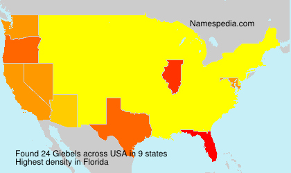 Surname Giebels in USA