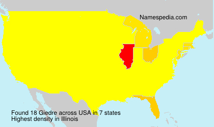 Surname Giedre in USA