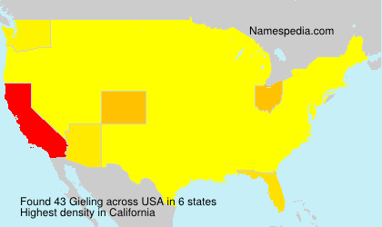 Surname Gieling in USA
