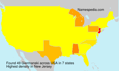 Surname Giermanski in USA