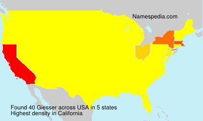 Surname Giesser in USA