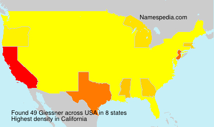 Surname Giessner in USA