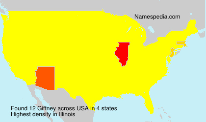 Surname Giffney in USA