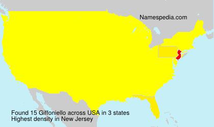 Surname Giffoniello in USA