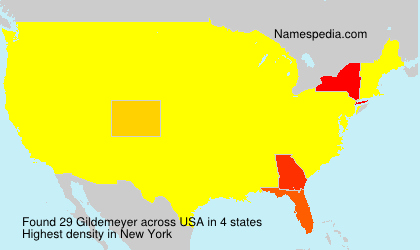 Surname Gildemeyer in USA