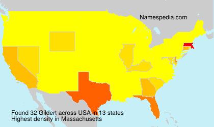 Familiennamen Gildert - USA