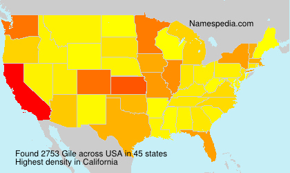 Surname Gile in USA