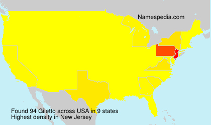 Surname Giletto in USA