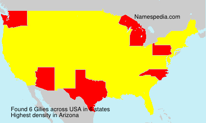 Surname Gilies in USA