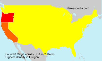 Familiennamen Giliga - USA