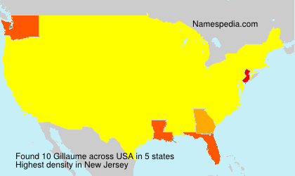 Surname Gillaume in USA