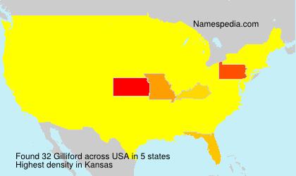 Surname Gilliford in USA