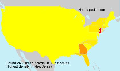 Familiennamen Giltman - USA