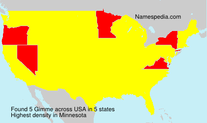 Surname Gimme in USA