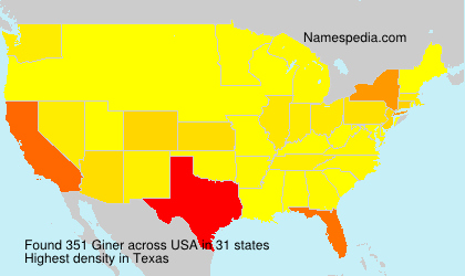 Surname Giner in USA