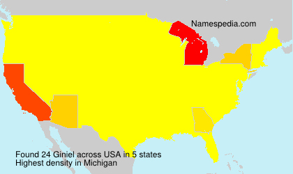 Surname Giniel in USA