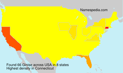 Surname Ginise in USA